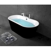 Ванна акриловая отдельностоящая BELBAGNO BB200-NERO