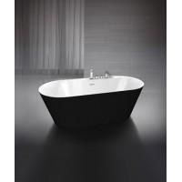 Ванна акриловая отдельностоящая BELBAGNO BB14-NERO/BIA