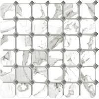 Мозаика керамическая CALACATTA VI.OTTAGONA (5x5) 30x30