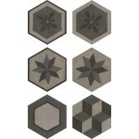 Гранит керамический 173063 GEA Esagona Decoro Colori Freddi 40.9x47.2