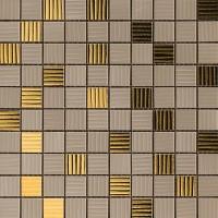 Мозаика керамическая настенная 68903 GOLD MOSAICO RIGA Marrone/Oro 2.5x2.5 25x25