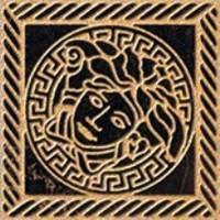Вставка керамическая 240303 MARBLE TOZZETTO MEDUSA Nero 11.5x11.5