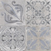Плитка керамическая напольная ANTIQUE Silver 59.6x59.6