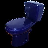 Унитаз-компакт Элисса, сиденье стандарт, арматура Geberit , синий